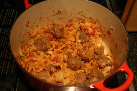 Winter Meatballs with Savoy Cabbage