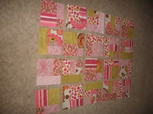 20 flannel, soft baby-girl pink squares