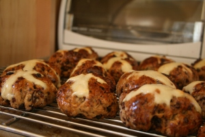 Hot cross buns--baked I