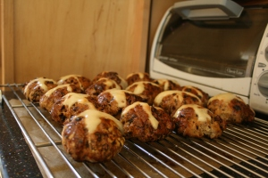 Hot cross buns--baked II