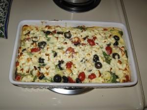 cheesy, veggie goodness