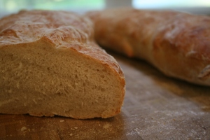 Ciabatta sliced