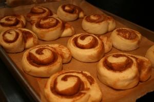 Cinnamon Buns risen