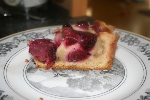 Slice of Red Plum Tart