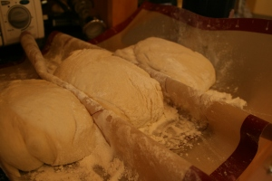 BBA Challenge Ciabatta--shaped loaves for second rise