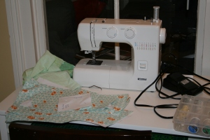 Sewing machine setup