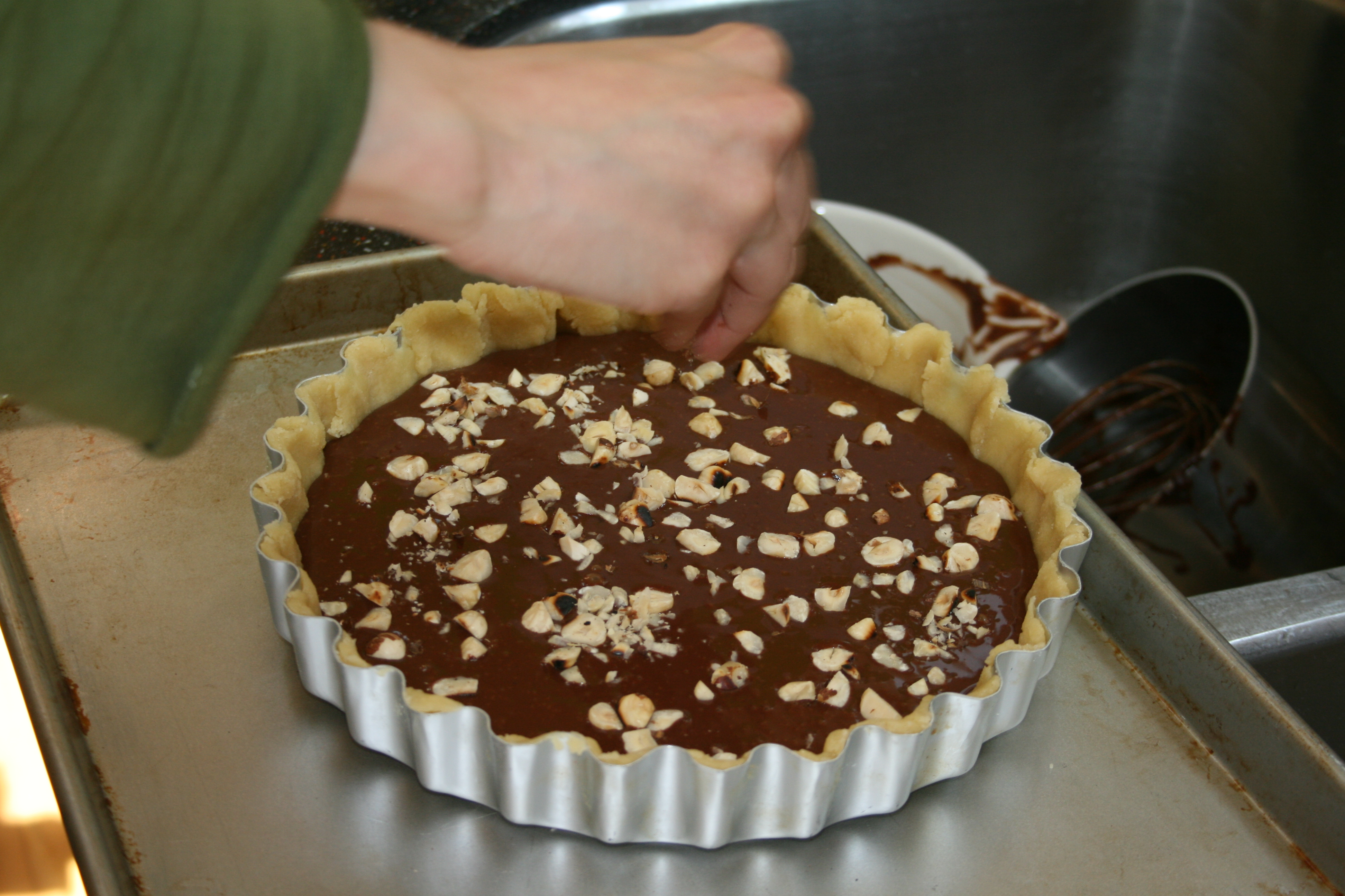 ... Baker Challenge: Chocolate Orange Hazelnut Tart | Three Clever Sisters