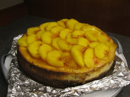 Fresh Peach Cheesecake